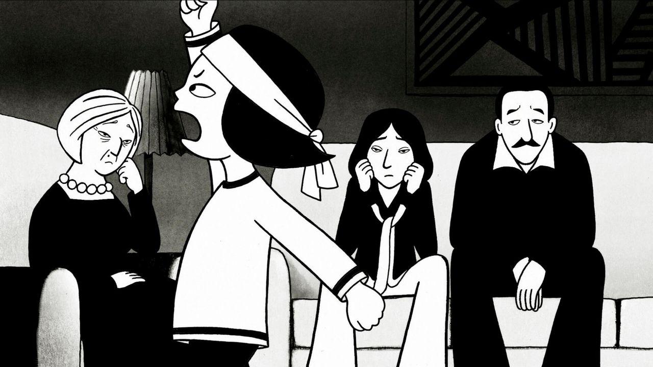 """Le film d'animation """"Persepolis"""" de Marjane Satrapi et Vincent Paronnaud"""